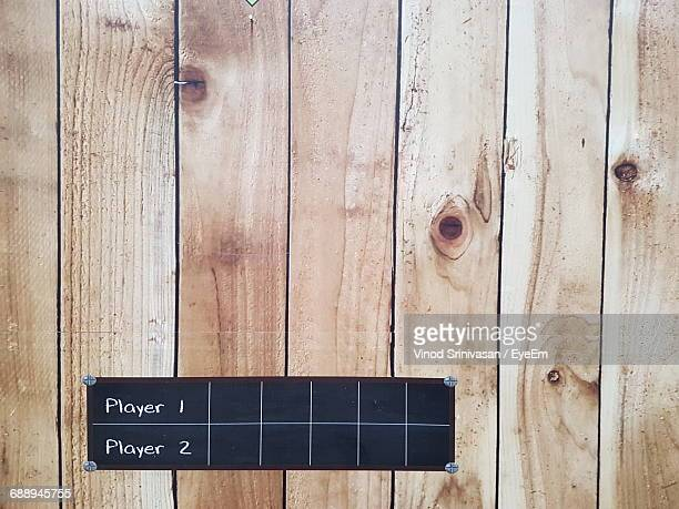 Text With Numbers On Wooden Wall