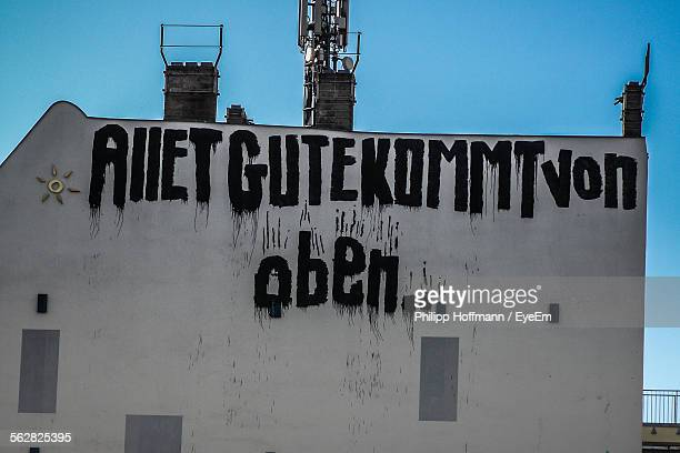 Text Written On House Wall
