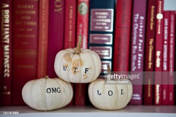 Textacular pumpkins
