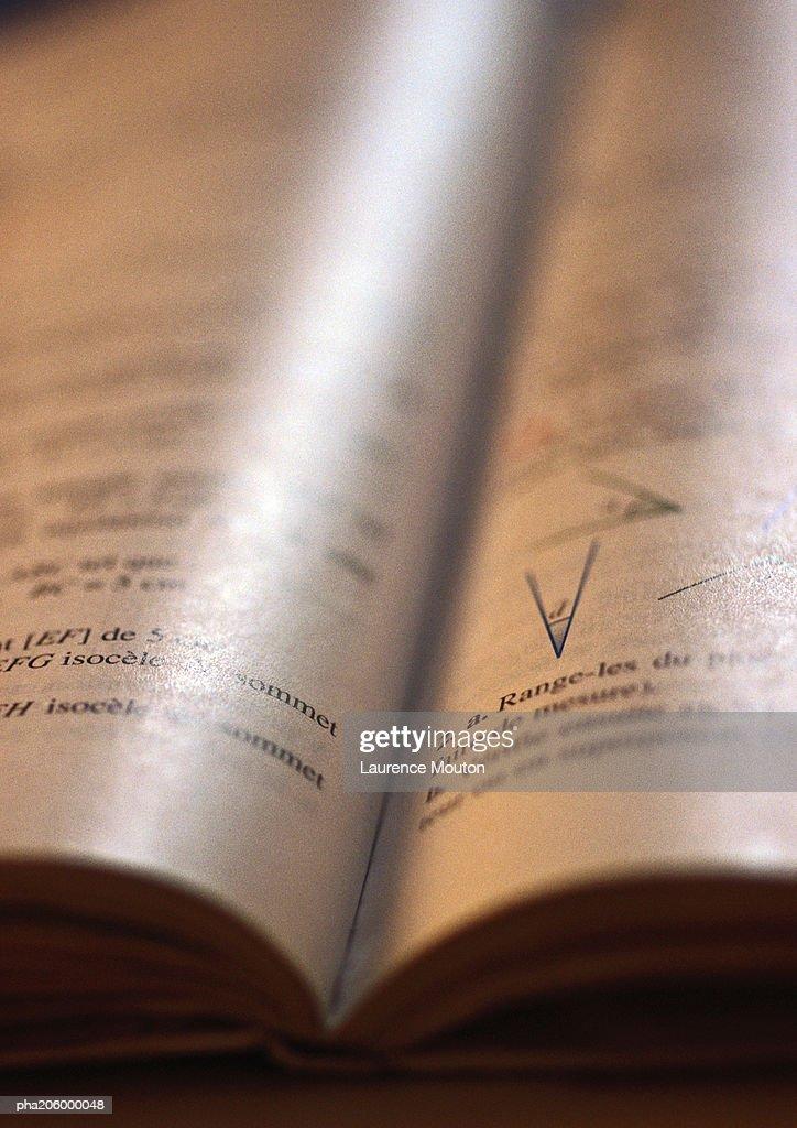 Textbook. : Stockfoto