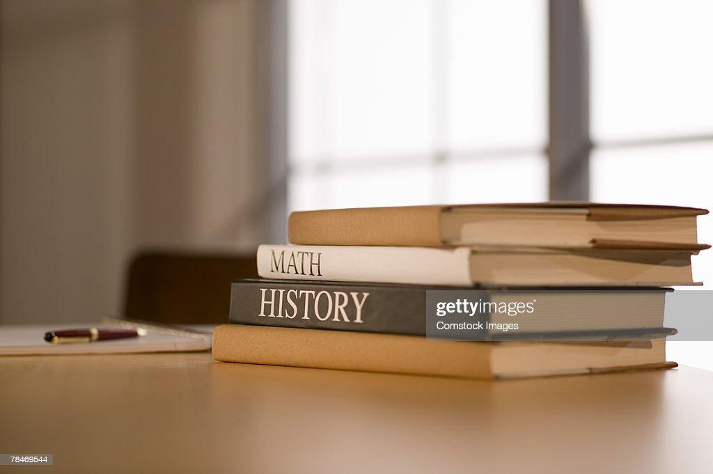 Textbooks : Stock Photo