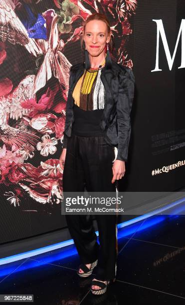 Textile designer Tiphaine De Lussy attends the 'McQueen' UK premiere at Cineworld Leicester Square on June 4 2018 in London England