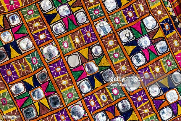 Textile, Fabric, Embroidery, inlaid mirrors