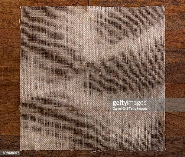 Textile on wooden table