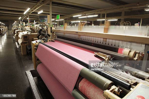 Textile Production - Weaving Cotton Fabric on Airjet Looms