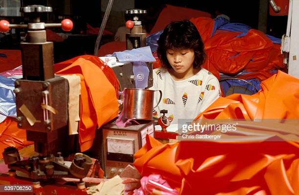 Textile Worker in Factory