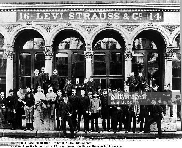 Textilindustrie Herstellung von Levi Strauss Jeansdas Versandhaus in San Francisco 1882