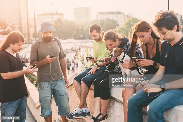 texting in the city - large group of objects stock pictures, royalty-free photos & images