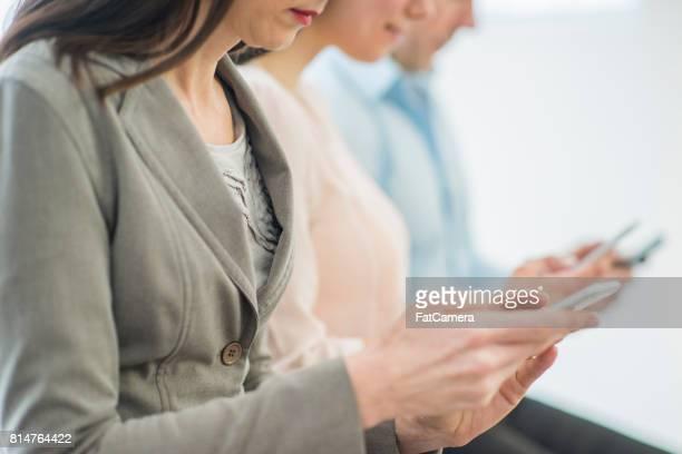 Textning på kontoret
