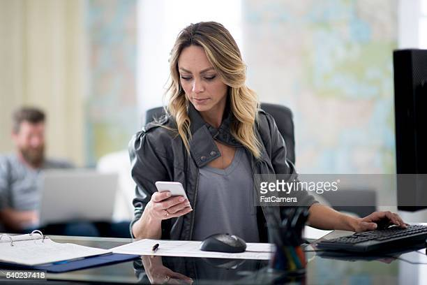 Texting While Working at Home