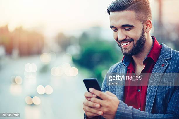 Texting with a smile