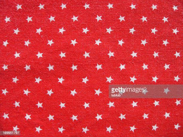Texture 1 - Red cotton fabric with white stars