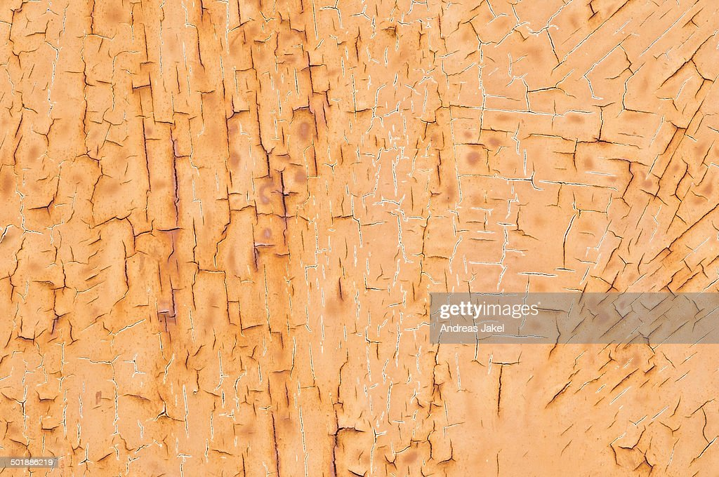 Texture, metal with flaking paint : Stock Photo