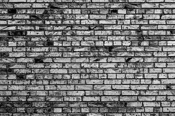 Texture Of Brick Wall Contrast Black And White