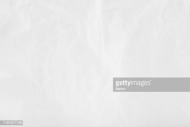 texture of crumpled white paper - parchment stock pictures, royalty-free photos & images
