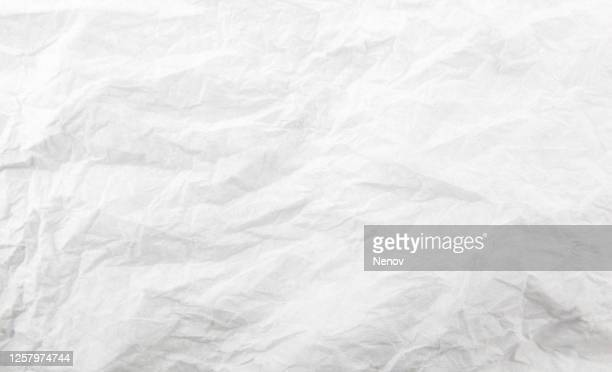 texture of crumpled white paper - newspaper stock pictures, royalty-free photos & images