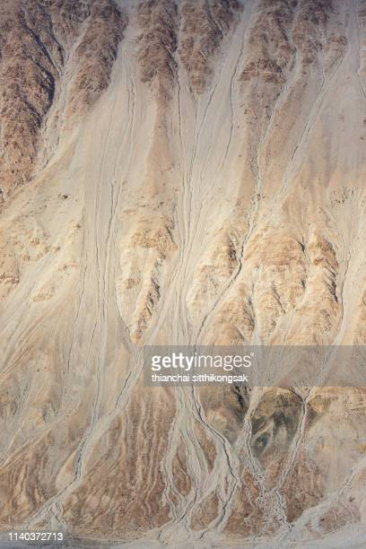 texture of dry river on sand in mountain - sandstone stock pictures, royalty-free photos & images