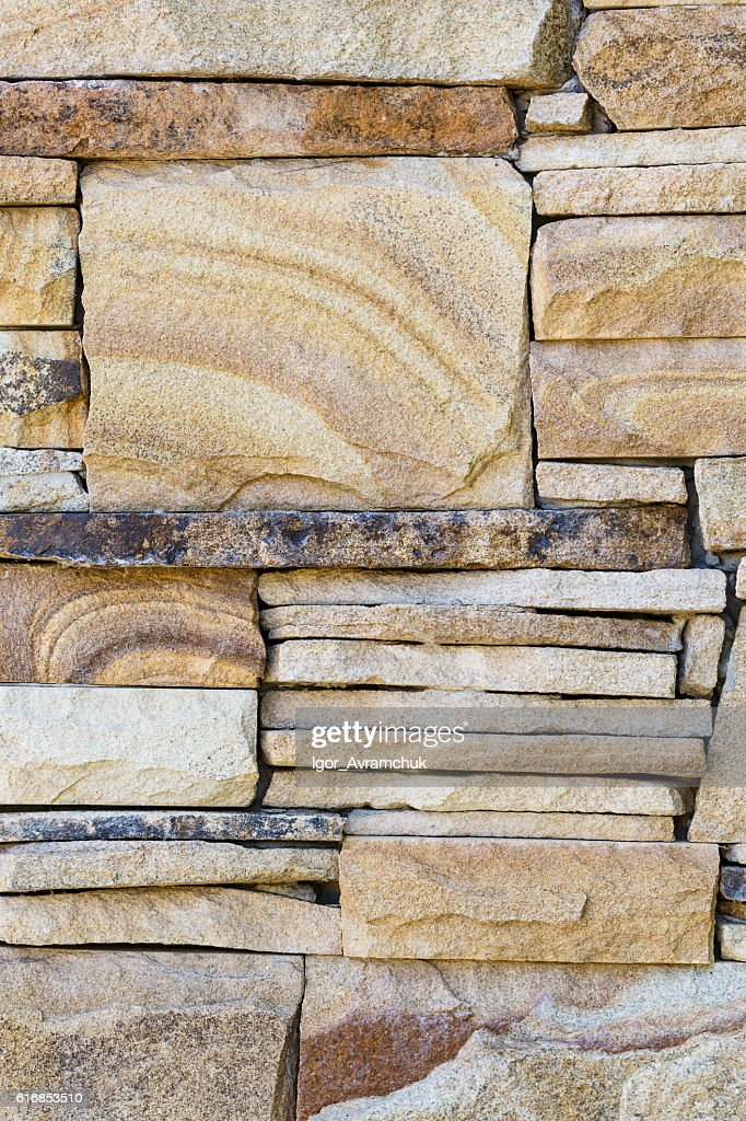 Texture of natural sandstone wall : Stock Photo