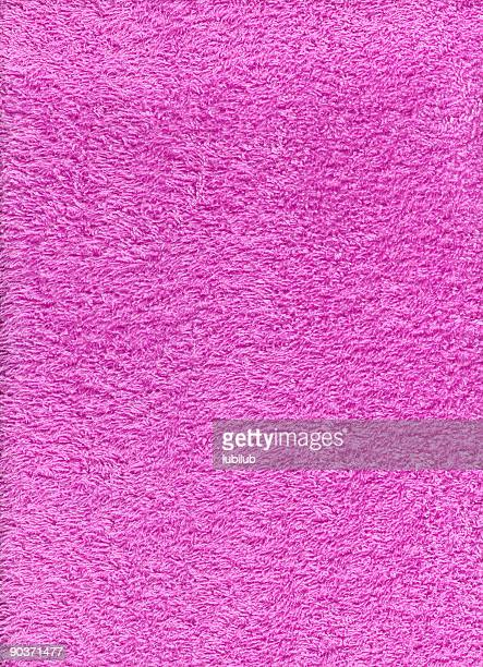 Texture of pink terry cloth towel