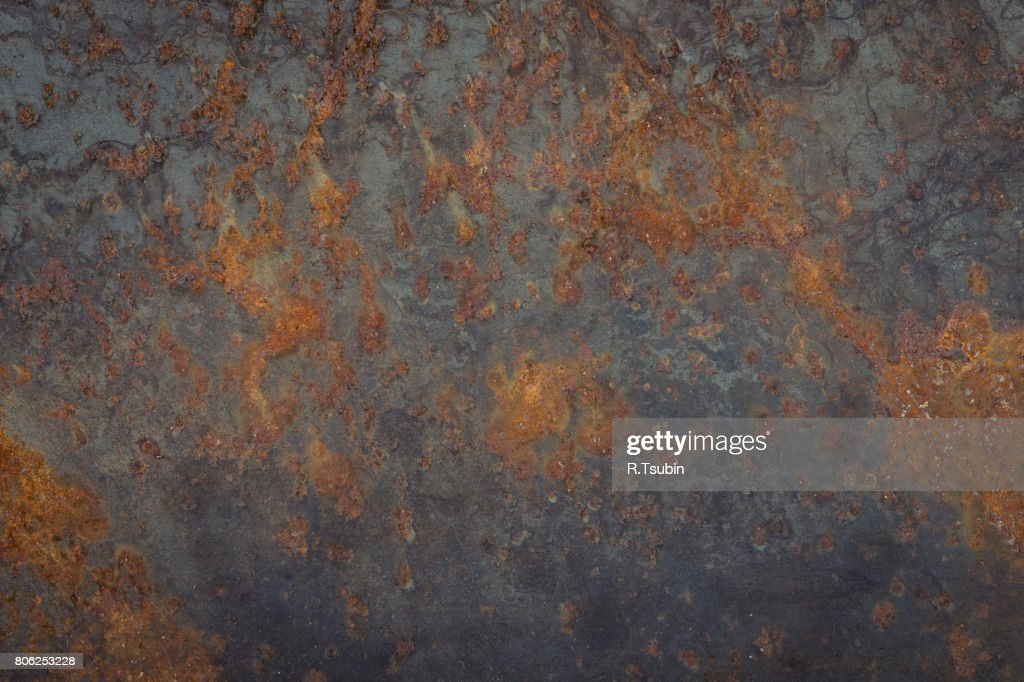 texture of the old rusty metal plate : Stock Photo