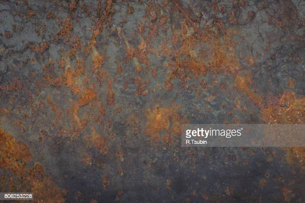 texture of the old rusty metal plate - metallic look stock-fotos und bilder