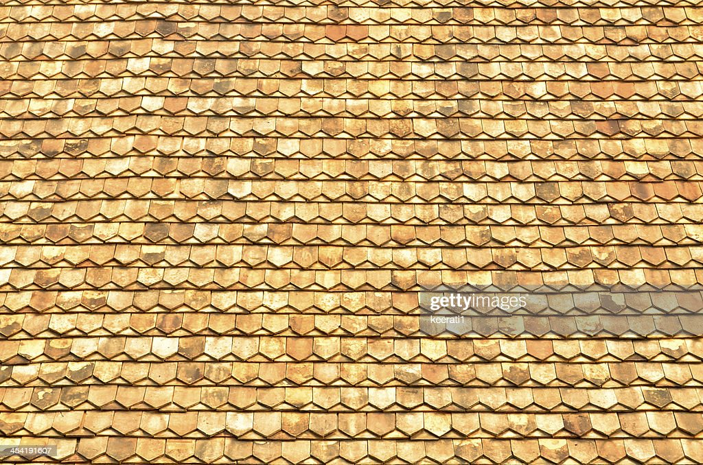 texture of the thai temple roof : Stock Photo