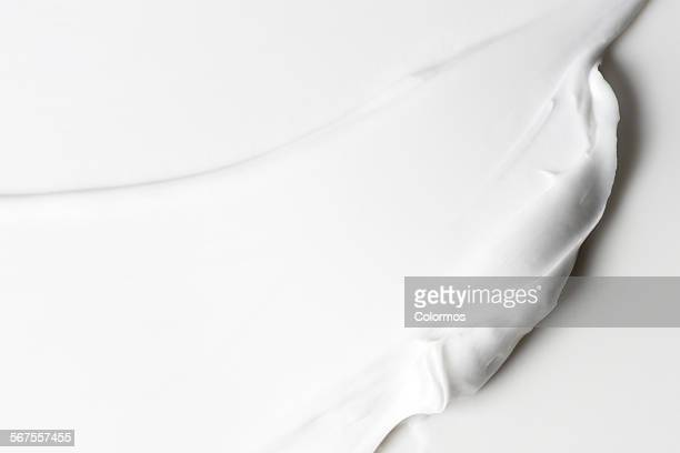 Texture of white cream, texture