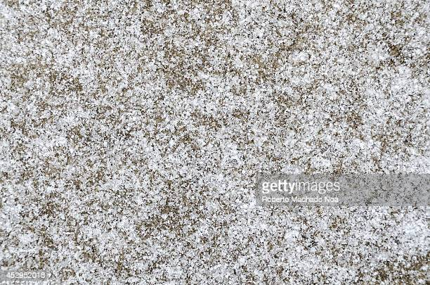 Texture or background of a surface covered in snow