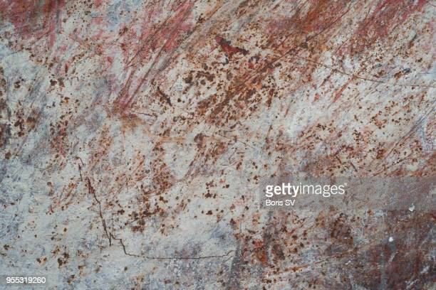 texture. scratches inside cargo container - rust colored stock photos and pictures