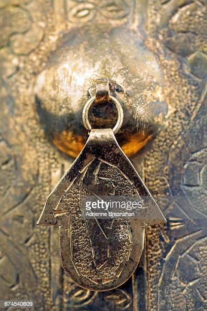 texture series: metal - hamsa symbol stock photos and pictures