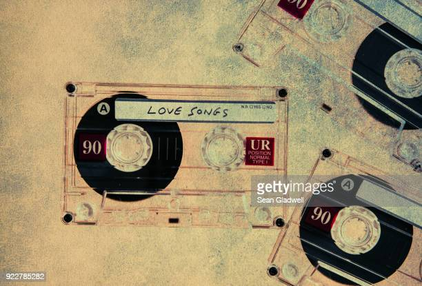 Textured love cassette tapes