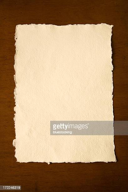 Textured Paper on a Wooden Desk
