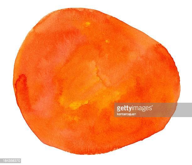 Textura con forma de melocotón Watercolour naranja