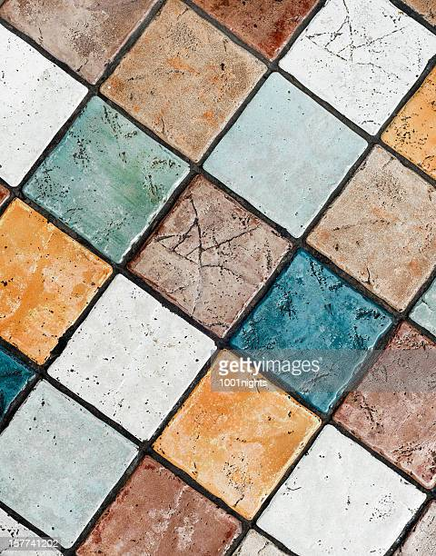 Textured tile as background