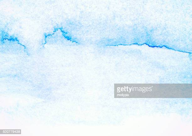Textured Watercolor Painting Blue Backgrounds Abstract