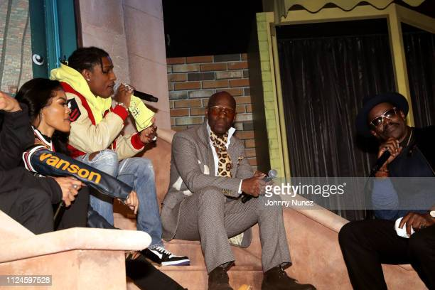 Teyana Taylor A$AP Rocky Dapper Dan and Fab 5 Freddy speak onstage at Stoop Talks with A$AP Rocky Dapper Dan at Terminal 5 on February 12 2019 in New...