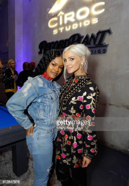 Teyana Taylor and Ashlee Simpson at CIROC Studios Launch Event hosted by DJ Khaled at the iconic Record Plant Studios on January 31 2018 in Hollywood...