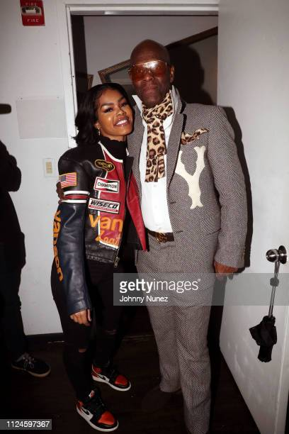 Teyana Taylor and Dapper Dan backstage at Stoop Talks with A$AP Rocky Dapper Dan at Terminal 5 on February 12 2019 in New York City