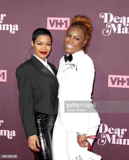 Teyana Taylor and her mother attend VH1's 3rd annual 'Dear Mama A Love Letter To Moms' screening at The Theatre at Ace Hotel on May 3 2018 in Los...