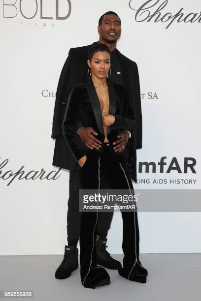 Teyana Taylor and Iman Shumpert arrive at the amfAR Gala Cannes 2018 at Hotel du CapEdenRoc on May 17 2018 in Cap d'Antibes France