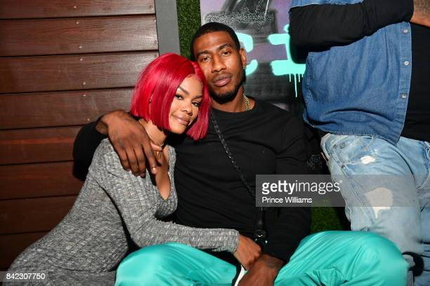 Teyana Taylor and Iman Shumpert attend Luda birthday celebration at Compound on September 3 2017 in Atlanta Georgia