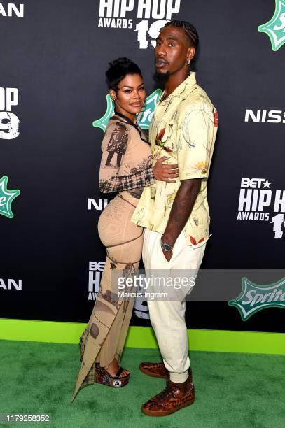 Teyana Taylor and Iman Shumpert attend the BET Hip Hop Awards 2019 at Cobb Energy Center on October 05, 2019 in Atlanta, Georgia.