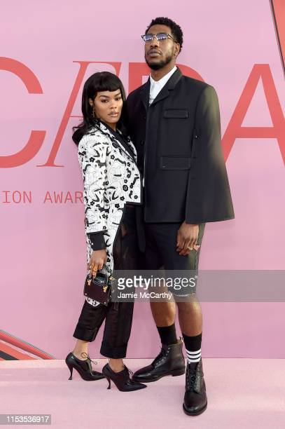 Teyana Taylor and Iman Shumpert attend the CFDA Fashion Awards at the Brooklyn Museum of Art on June 03 2019 in New York City