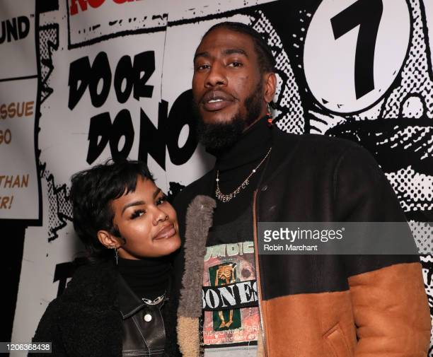 Teyana Taylor and Iman Shumpert attend The Compound and Luxury Watchmaker Roger Dubuis Hosts NBA AllStar Dinner at STK Chicago on February 14 2020 in...