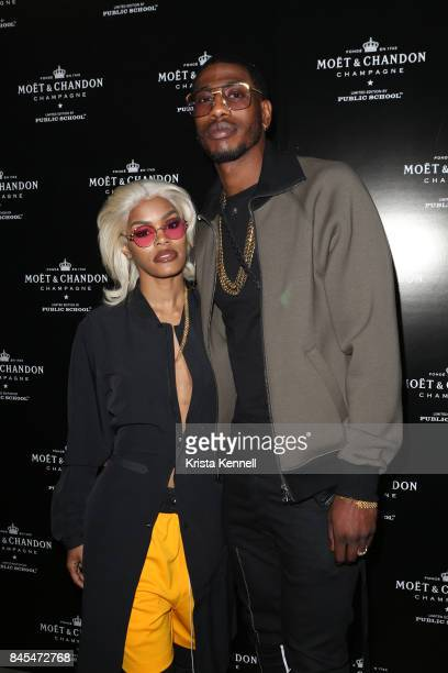 Teyana Taylor and Iman Shumpert attend the Moet Chandon x Public School Launch on September 10 2017 in New York City
