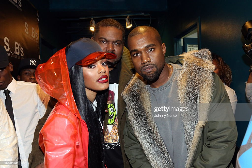 Teyana Taylor and Kanye West attend SOB's on December 4, 2014, in New York City.