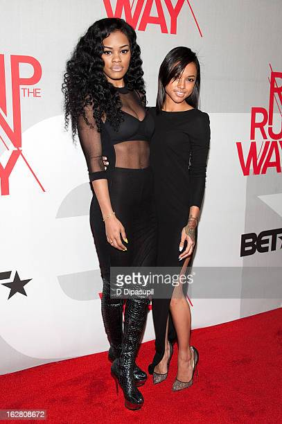 Teyana Taylor and Karrueche Tran attend BET's Rip The Runway 2013 at Hammerstein Ballroom on February 27 2013 in New York City