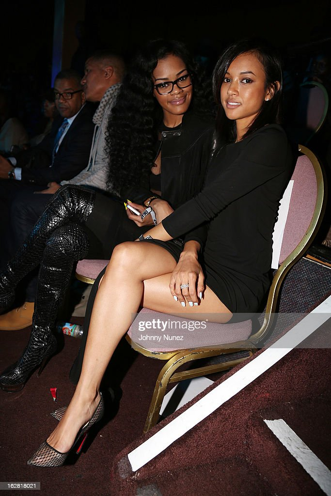 Teyana Taylor and Karrueche Tran attend BET's Rip The Runway 2013 at Hammerstein Ballroom on February 27, 2013, in New York City.