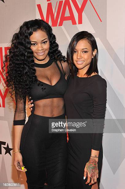 Teyana Taylor and Karrueche Tran attend BET's Rip The Runway 2013Red Carpet at Hammerstein Ballroom on February 27 2013 in New York City
