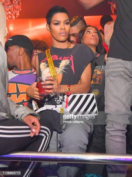 Teyana Taylor and Lori Harvey attend The Official Big Game Take over Hosted by DiddyJeezyFuture at Compound on February 2 2019 in Atlanta Georgia